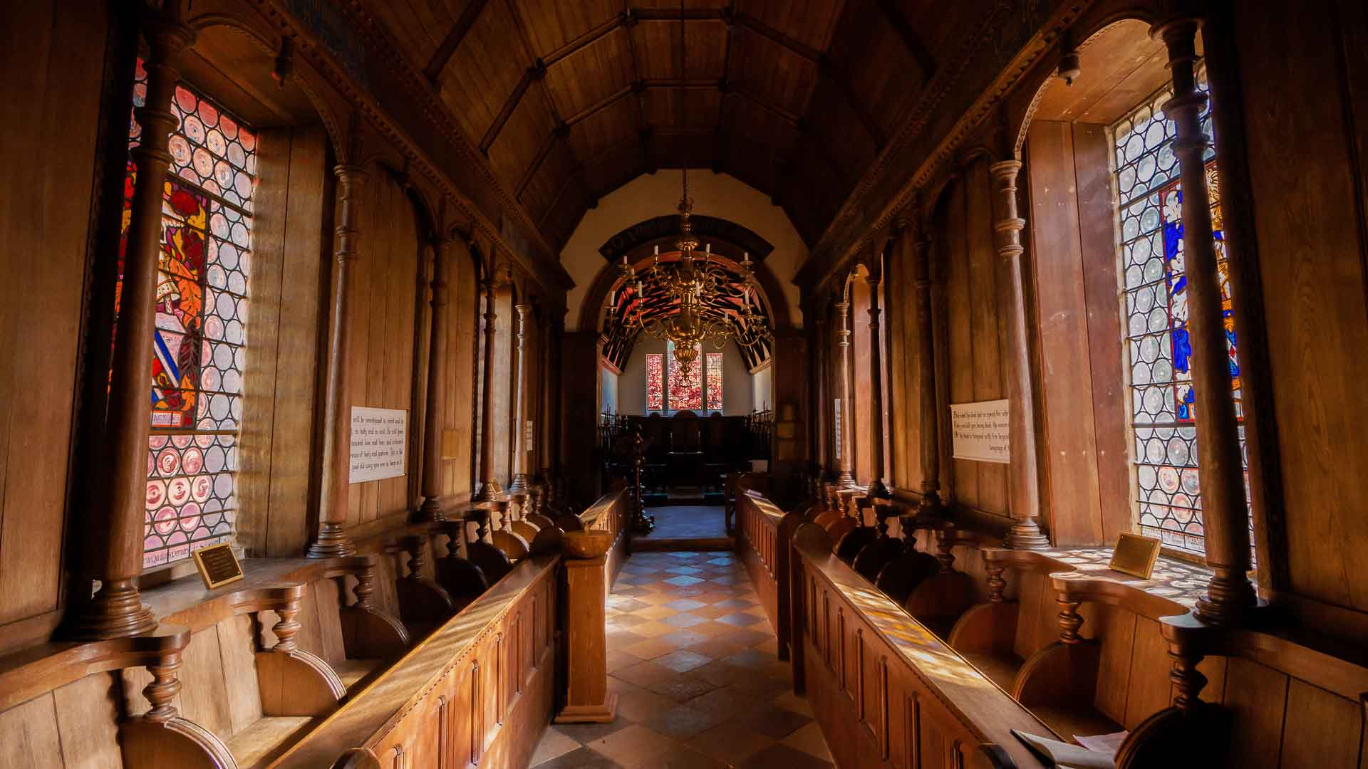 St Johns Church Little Gidding interior