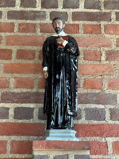 Statue of Nicholas Ferrar, memorial chapel